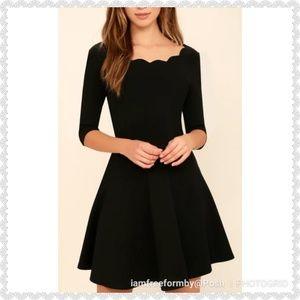 "Lulu's ""Tip The Scallops"" Black dress"